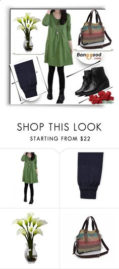 Banggood 2 by melissa995 ❤ liked on Polyvore featuring Nearly Natural