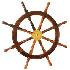 """Nautical Cove Wooden Ship Wheel Pirate Decor, Ships Wheel for Home, Boats, and Walls (36"""" Diameter)"""