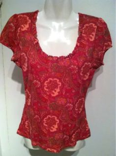 INC Boho Paisley Nylon Top EUC $2.99