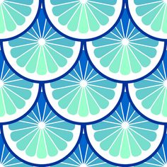 oceanic citrus scales fabric by sef on Spoonflower - custom fabric