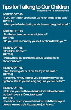 tips for talking to kids More