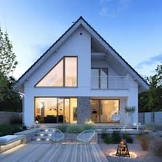 Projekt domu dostępny 4a tooba.pl skandynawskie domy | homify Bungalow Haus Design, House Design, Build Your Own House, Micro House, Nordic Home, Architect House, Facade House, Home Design Plans, Glass House