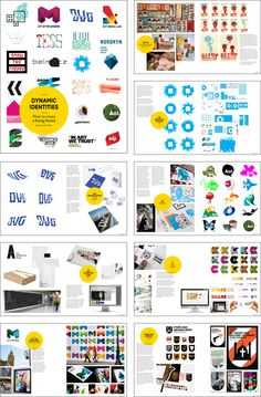 Dynamic Identities How to create a living brand - New book from BIS  This visual book looks into design systems for living brand identities that can change in colour, pattern or shape. These identities often follow a system created by the designer but are sometimes created by data which is not controlled by the  designer. These open identities  generate new versions of themselves by external data feeds.