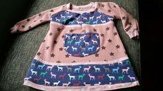 Handmade Winterkleid aus Alpenfleece und Jersey Gr.  98