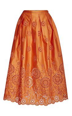 Ballerina Eyelet Skirt by Rochas for Preorder on Moda Operandi