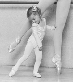 Dance - ballet - cute capture - little girl and grown ballerina photo Shall We Dance, Lets Dance, Little Ones, Little Girls, Dance Like No One Is Watching, Little Ballerina, Angelina Ballerina, Fred Astaire, Dance Photography