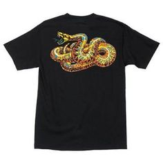 santa cruz jeff kendall snake skateboard shirt blk xl expedited