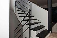 Treppe stahl holz und beton
