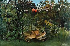 The Hungry Lion Attacking an Antelope by Henri... #Art - #Art #LoveArt http://wp.me/p6qjkV-e4z