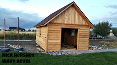 This Is The 1x10 Channel Rustic Cedar Siding Although