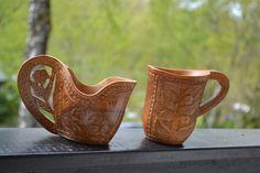 Scandinavian crafts carved wooden cup of by Scandinaviavandesign, kr320.00