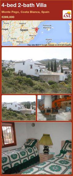 4-bed 2-bath Villa in Monte Pego, Costa Blanca, Spain ►€289,000 #PropertyForSaleInSpain