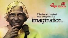 "UN declared Oct 15th APJAbdulKalam's birthday as ""WORLD STUDENTS DAY "".Great honor given to the great personality."