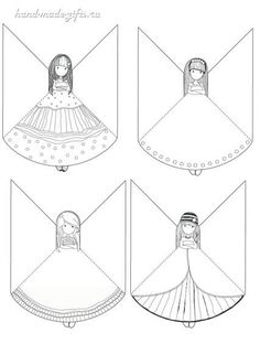 Угловые закладки для книг из бумаги для девочек своими руками