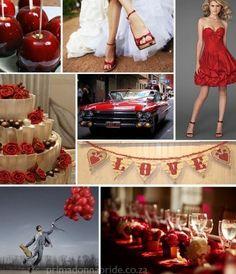 Red Wedding Inspiration Board #red #wedding