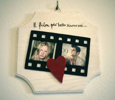 Wooden Photo frame, original photo frame, pyrography,perfect gift,passport picture frame, filmstrip picture frame by JoyMadeInItaly on Etsy