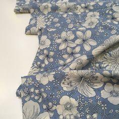 Cotton Lawn Fabric, Blue Backgrounds, Dressmaking, Yarns, Crisp, Weave, Print Patterns, Count, Floral Design