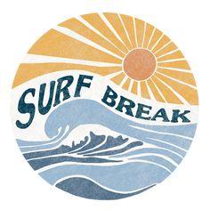 Surf Design, Beach Design, Wave Design, Graphic Design Fonts, Graphic Design Illustration, Graphic Design Inspiration, Logo Design, Surf Logo, Beach Logo