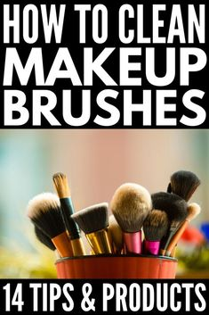 So reinigen Sie Make-up-Pinsel richtig: 14 Tipps und Tricks Baby World Make Makeup, Eye Makeup Tips, Smokey Eye Makeup, How To Apply Makeup, Makeup Ideas, Makeup Hacks, Beauty Makeup, Makeup Trends, Makeup Inspiration