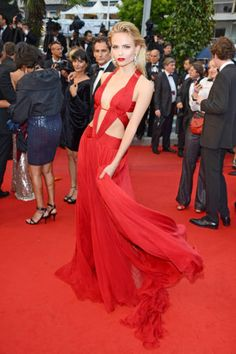 The 2012 Cannes Red Carpet  Natasha Poly in Roberto Cavalli at the Cosmopolis premiere.