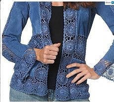 DIY Comment coudre un Kimono en 1 heure - Her Crochet Crochet Coat, Crochet Fabric, Crochet Quilt, Crochet Jacket, Crochet Cardigan, Crochet Clothes, Diy Clothes, Lace Jacket, Crochet Motif