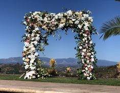 Excited to share this item from my #etsy shop: Luxury Wedding Flowers, Wedding Arch Flower Package, Event Floral Decor, Destination Wedding Flowers, Ivory Arch Swags, Wedding Flowers