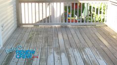 Good example of what an average deck looks like before Renew Crew of Johnson County works on it.  This deck was located in Overland Park, KS.