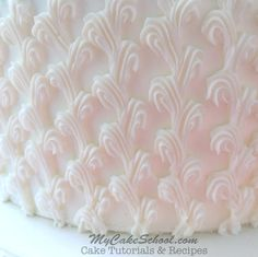 Gorgeous Piping made Easy! From MyCakeSchool.com's Bridal Shower Cake Free Video!