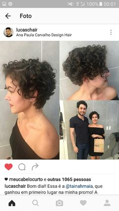 Long pixie hairstyles are a beautiful way to wear short hair. Here we share the best hair styles and how these styles work. Curly Pixie Haircuts, Short Curly Pixie, Long Pixie Hairstyles, Curly Hair Cuts, Short Hair Cuts, Curly Hair Styles, Pixie Wavy Hair, Short Curls, Hair Dos