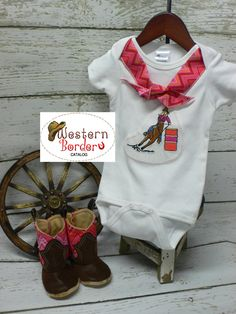 Barrel Racer Baby Outfit by Western Border  Price set $51.00