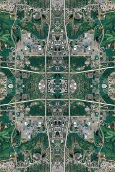 Aerial Photos of Industrial Sites Transformed Into Kaleidoscopic Patterns