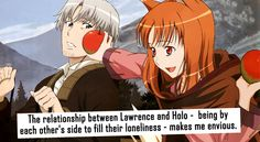 Lawrence and Horo, from Spice and Wolf.