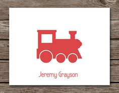 Train Note Cards Train Cards Train Stationery by PebbleCreekStudio