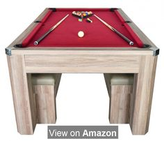 Game Room 7 Foot Pool Table Ping Pong Table Combo Set W Benches Billiard  Table