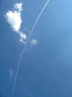 blue skies + a gone plane
