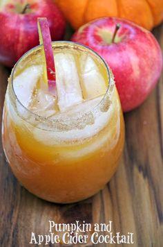 Pumpkin and Apple Cider Cocktail #Recipe #PinnacleCocktailClub #ad  http://su.pr/6s6kxc