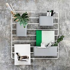 String String + seinäritilä, harmaa | String System | Huonekalut | Finnish Design Shop