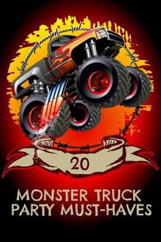 20 Monster Truck Birthday Party Must-Haves  www.spaceshipsandlaserbeams.com