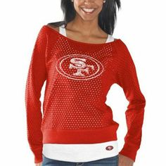 G-III 4Her San Francisco 49ers Ladies Holy Sweatshirt & Tank Set - Scarlet