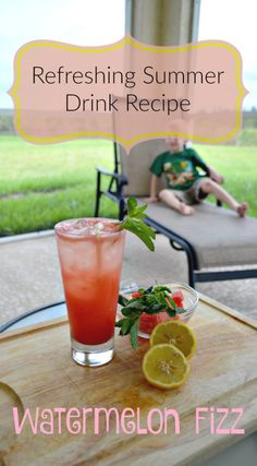 Refreshing Summer Drink Recipe: Watermelon Fizz #FreshFromFlorida #IC #ad