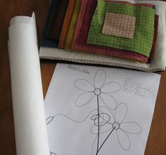 Wool Applique tutorial love the fusible web method!