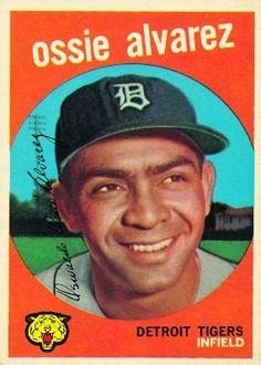 1959 Topps Ossie Alvarez Detroit Tigers Baseball Card for sale online Playing For Keeps, Kids Playing, Gary Taylor, Detroit Tigers Baseball, Baseball Cards For Sale, Trading Card Database, Baseball Players, New York Yankees, Mississippi