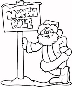 Santa Claus In The North Pole Coloring Page From Category