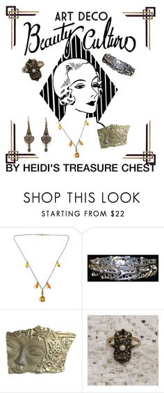 """""""Art Deco"""" by heidi-calamia-galati ❤ liked on Polyvore featuring women's clothing, women's fashion, women, female, woman, misses and juniors"""