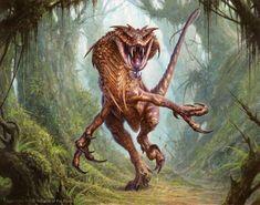 Deathmist Raptor - Dragons of Tarkir MtG Art