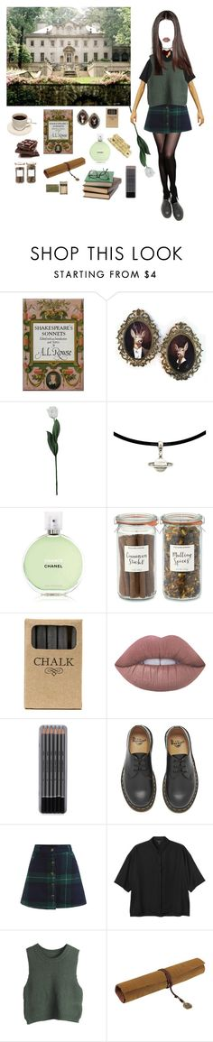 """Island"" by djulia-tarasova ❤ liked on Polyvore featuring Laura Cole, Chanel, Williams-Sonoma, Jayson Home, Lime Crime, Dr. Martens, Monki, WithChic and Retrò"