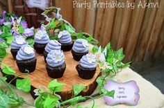 Tinkerbell Party with Lots of Really Cute Ideas via Kara's Party Ideas | Cupcakes