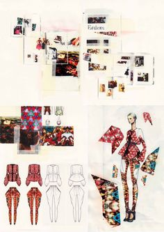 sketchbook idea- combination of elements page. image selected from graduate work on artsthread.com
