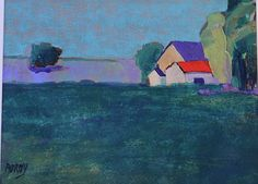 Peg's Cottage acrylic on paper, 9x12