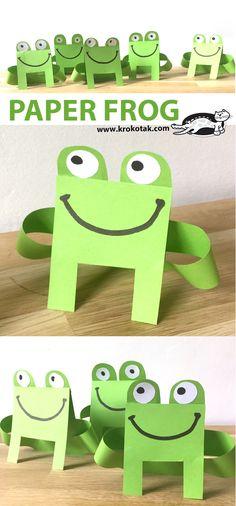 PAPER FROG Paper Frog crafts for kids More from my site Letter F Crafts – Preschool and Kindergarten Kindergarten Frog craft …hop into spring! Animal Crafts For Kids, Summer Crafts For Kids, Crafts For Kids To Make, Projects For Kids, Art For Kids, Summer Diy, Frogs For Kids, Heart Pop Up Card, Frog Art